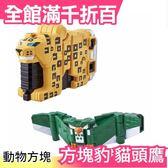 【方塊豹+貓頭鷹】日本 日版原裝 萬代BANDAI 動物戰隊 獸王者 動物方塊 合體多件組【小福部屋】
