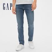 Gap男裝 柔軟修身彈力牛仔長褲 488883-做舊牛仔藍