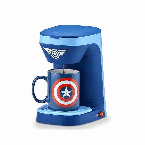 Marvel Captain America 漫威 單人咖啡機 - 美國隊長 MVA-123CN 附12盎司馬克杯 [2美國直購]