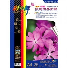 彩之舞 HY-A45 雪面噴墨貼紙-防水 0.12mm A4 Label - 25張/包