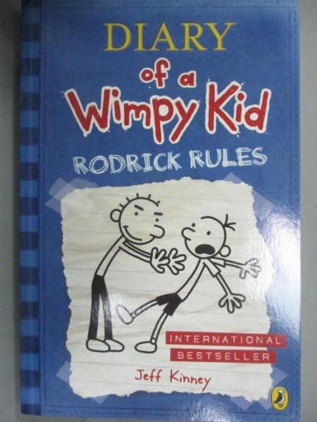 【書寶二手書T8/原文小說_GLZ】Rodrick Rules-Diary of a Wimpy Kid_Kinney,