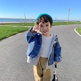 男童外套 兒童牛仔外套男童裝男童秋裝連帽夾克洋氣寶寶上衣春秋款-Milano米蘭