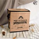 ADISI 方形保冷袋AS20041 復古時尚風格 / 城市綠洲 (露營踏青、食物保鮮、簡易攜帶)
