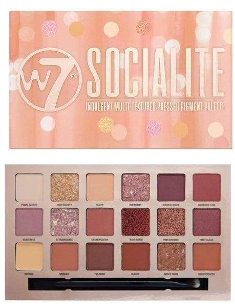 W7 Cosmetics Socialite Eyeshadow Palette 18色 眼影盤