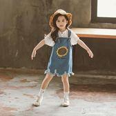 女童夏裝套裝洋氣時髦網紅兒童裝5夏季6女孩7背帶褲8歲潮【東京衣秀】