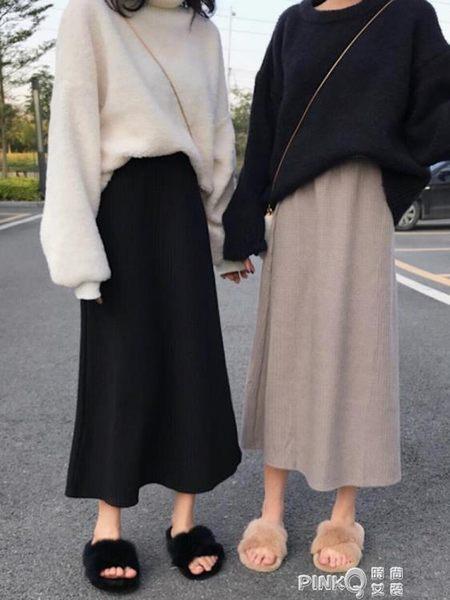 春季2019新款韓版學生格子中長款A字裙半身長裙ins超火的裙子女裝