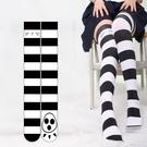 ※美腿襪※二次元學院風過膝襪360度數碼印花貓爪腳印襪天鵝絨高筒美腿襪W0597