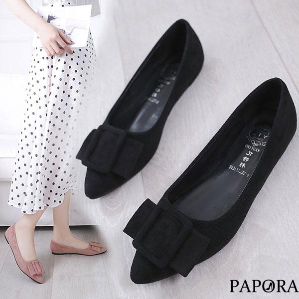 柔合多色百搭娃娃平底包鞋(偏小)KP787黑/米/粉/藍/黃PAPORA