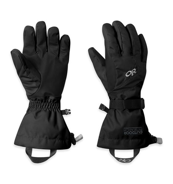 OR W'S ADRENALINE GLOVES 女款防水防風透氣保暖手套 黑