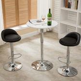 ♚MY COLOR♚糖果色矮背高腳椅 腳踏板 把手 酒吧 餐廳 接待所 台椅 餐椅 旋轉 現代 簡約【W17】