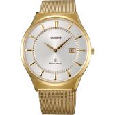 ORIENT 東方錶 SLIM系列 超薄米蘭帶手錶-39mm FGW03003W