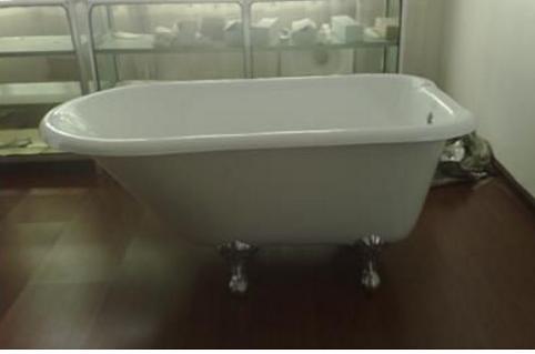 【麗室衛浴】BATHTUB WORLD LS-1006 高級獨立式鑄鐵浴缸 1219*765*555mm(高度含腳)