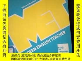 二手書博民逛書店MODERN罕見ENGLISH TEACHER Volume 13 Number 3 Autumn 1986Y