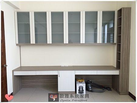 【歐雅系統家具】書桌結合書櫃