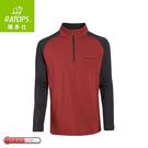【Ratops 瑞多仕 男Thermolite暖衣(袖配色)《赭紅/黑》】DB6005/中層衣/保暖長袖/休閒長袖