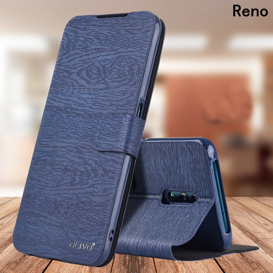 潮流樹紋插卡OPPO Reno2商務手機套 毆珀reno10倍變焦翻蓋保護套 防摔RenoZ保護殼 OPPO Reno2Z手機殼皮套