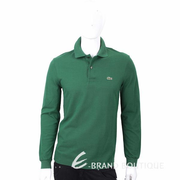 LACOSTE Classic Fit 深綠色修身棉質長袖POLO衫(男款) 1710734-08