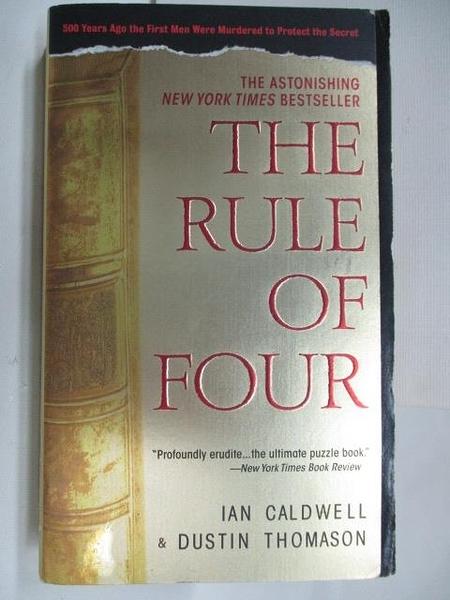 【書寶二手書T1/原文小說_A7K】The Rule of Four_Ian Caldwell
