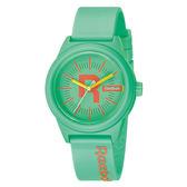 Reebok Drop系列自我主張運動腕錶-橘x粉綠