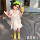 女童洋裝牛仔背帶裙2020夏季新款中小童韓版小女孩洋氣公主裙吊帶裙潮流 HR131【極致男人】