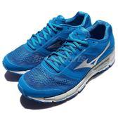Mizuno 慢跑鞋 Synchro MX 藍 銀 運動鞋 透氣鞋面 男鞋 【PUMP306】 J1GE161903