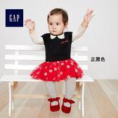 Gap x Disney女嬰兒 迪士尼米妮短袖洋裝 348785-正黑色