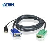ATEN 2L-5203U 3公尺 USB 介面切換器連接線附三合一SPHD連接頭