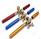 【現貨供應】鋼筆釣竿 迷你釣竿 口袋釣竿 浮標 捲線器 (顏色隨機出貨)【H00533】