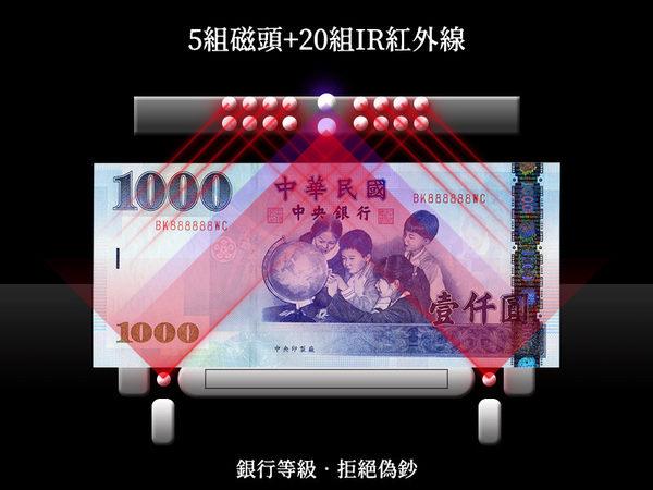 ♥ 大當家BS-308A五國幣別~台幣/人民幣/美金/歐元/日元 銀行專用點驗鈔機加碼限量贈品