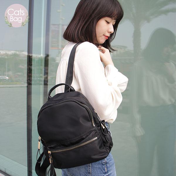 Catsbag|乾燥玫瑰純色防潑水尼龍後背包|WX033