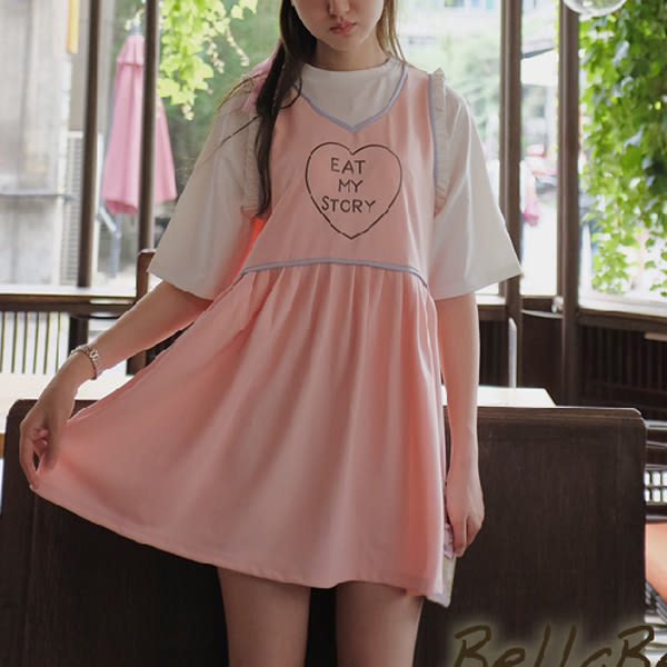 假兩件上衣 日森可愛少女版型二色-月兒的綺麗莊園 X