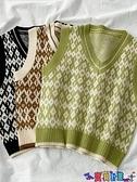 毛衣背心 秋冬2021年新款復古V領毛衣馬甲背心外搭女韓版減齡無袖針織馬夾 寶貝計畫