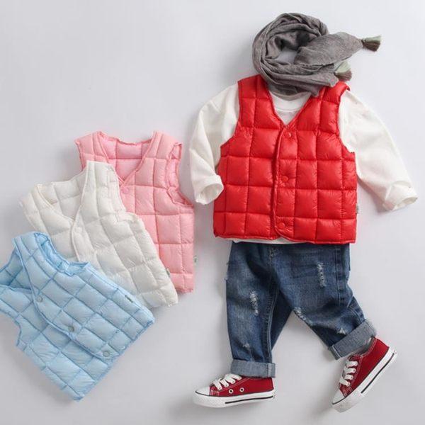 羽絨背心 兒童棉背心寶寶裝秋冬季男童女童純色保暖內膽小馬甲寶貝計畫