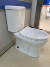 【麗室衛浴】小空間專用馬桶 8004 -1奈米釉燒製雙體式 兩段式沖水