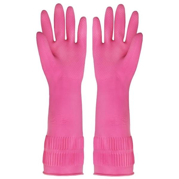 韓國進口橡膠家務手套廚房洗碗洗衣服防水乳膠手套加厚款3雙裝