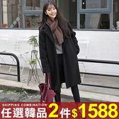 任選2件1588大衣毛呢外套韓版寬鬆中長版繭型加厚呢子大衣【08G-F0355】