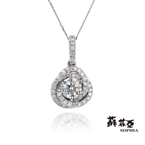 蘇菲亞SOPHIA - 艾芙羅狄 1.00克拉FVVS1 3EX鑽石項鍊