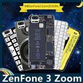 ASUS ZenFone 3 Zoom 復古偽裝保護套 PC硬殼 懷舊彩繪 計算機 鍵盤 錄音帶 手機套 手機殼 背殼 外殼
