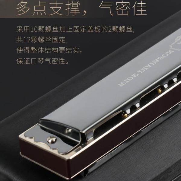 音簧口琴28孔復音c調重音準專業演奏級口琴成人初學