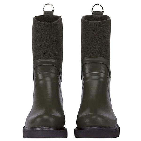 RUB53防水抗寒拼接中筒雨靴-軍綠