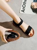 涼鞋女平底鞋2021年新款百搭軟底孕婦舒適簡約魔術貼學生夏季女鞋 夢幻小鎮