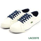 LACOSTE 女用休閒帆布鞋-白/藍 982