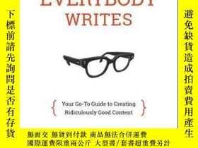 二手書博民逛書店Everybody罕見Writes: Your Go-To Guide to Creating Ridiculou