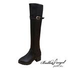 長靴 率性繫帶釦環及膝長靴(黑)*BalletAngel【18-A-06bk】【現+預】