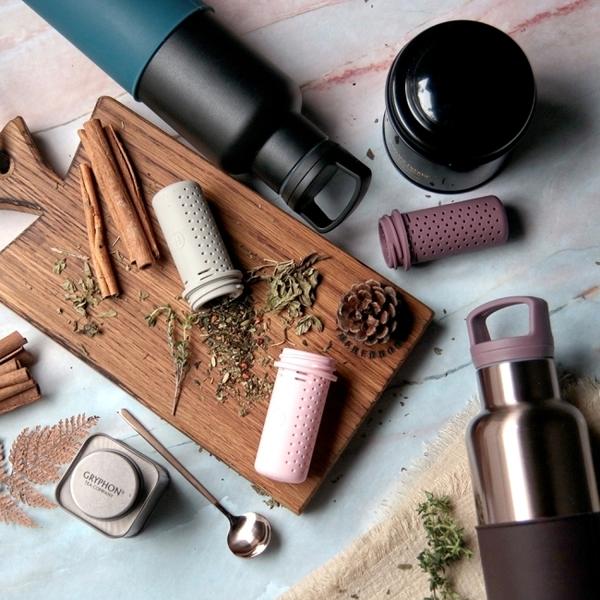 HYDY 瓶蓋組合+泡茶器 (乾燥玫瑰色)