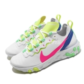 【五折特賣】Nike 慢跑鞋 Wmns React Element 55 白 粉紅 女鞋 運動鞋 【PUMP306】 CU3011-161