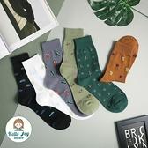 【正韓直送】韓國襪子 簡約滿版小圖加大男性中筒襪 男襪 長襪 文青 女襪 型男必備 哈囉喬伊 M34