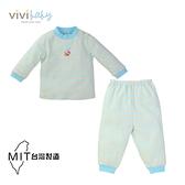 【vivibaby】蘑菇條紋長袖套裝(藍) (二尺寸可挑) 599元