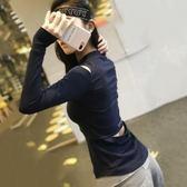 美背鏤空健身衣女長袖運動T恤寬鬆瑜伽服