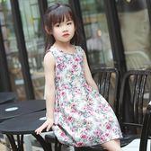2018新款童裝女童夏季女孩洋裝兒童裙子碎花純棉薄女寶寶公主裙 LL1158『美鞋公社』